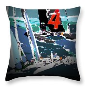 America's Cup 2013 Poster Throw Pillow