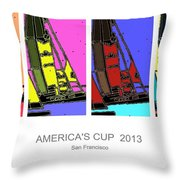 America's Cup Poster 3 Throw Pillow
