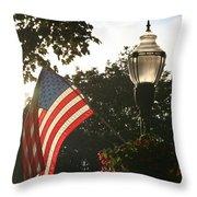 America's Downtown Throw Pillow