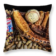 America's Pastime Throw Pillow by Ken Smith