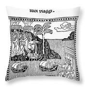 Amerigo Vespucci, 1505 Throw Pillow