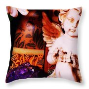 Amethyst Angel Throw Pillow