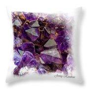 Amethyst Crystals. Elegant Knickknacks From Jenny Rainbow Throw Pillow
