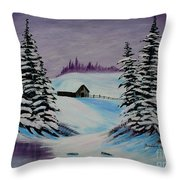 Amethyst Evening After Ross Throw Pillow
