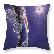 Amethyst Fairy By Shawna Erback Throw Pillow