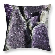 Amethyst Geode Pieces Throw Pillow