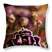 Amethyst Opening Throw Pillow