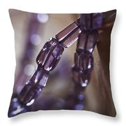 Amethyst  Throw Pillow by Rona Black