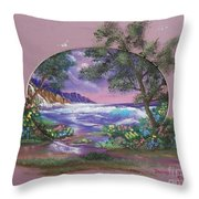 Amethyst Tide Throw Pillow