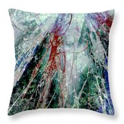Amid The Falling Snow Throw Pillow