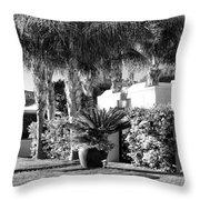 Amir Drive Bw Marrakesh Palm Springs Throw Pillow