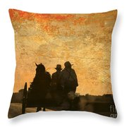 Amish After A Hard Days Work Throw Pillow