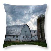 Amish Barn Throw Pillow