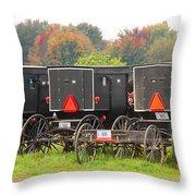 Amish Buggies 2 Throw Pillow