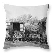 Amish Carriage, 1942 Throw Pillow