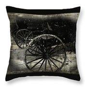 Amish Cart Wheels Grunge Throw Pillow