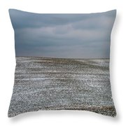 Amish Country In Winter Throw Pillow