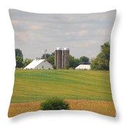 Amish Farm 2 Throw Pillow