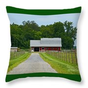 Amish Farm Throw Pillow