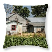 Amish Farm In Tennessee Throw Pillow