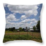 Amish Farm Landscape Throw Pillow
