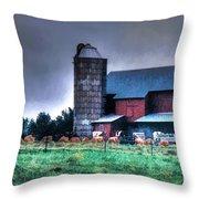 Amish Farming 2 Throw Pillow