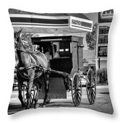 Amish Gas Throw Pillow