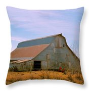 Amish Metal Barn Throw Pillow