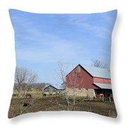 Amish Panorama Throw Pillow