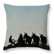Amish Silhouette  Throw Pillow