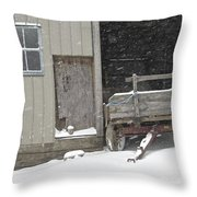 Amish Snowfall Throw Pillow