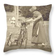 Amish Times Throw Pillow