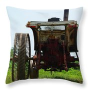 Amish Tractor Throw Pillow