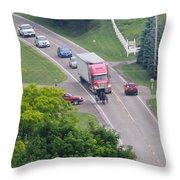Amish Traffic Jam Throw Pillow
