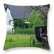 Amish Way Of Life Throw Pillow