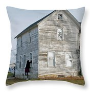 Amish Window Washer Throw Pillow