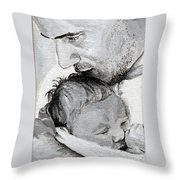 Amit And Mika Throw Pillow