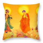 Amitabha And Two Bodhisattvas Throw Pillow
