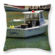 Amity Police Throw Pillow