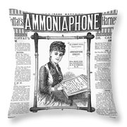 Ammoniaphone, 1885 Throw Pillow