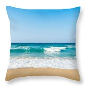 Amnissos Beach Throw Pillow