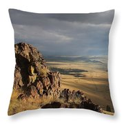 Among The Cliffs Throw Pillow