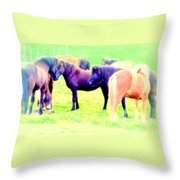 A Horse Most Of All Wanna Be One Among The Other Horses Throw Pillow
