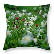 Among The Lillies Throw Pillow