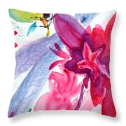 Among The Peonies Throw Pillow