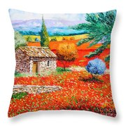 Among The Poppies Throw Pillow