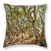 Among The Trees - The Mysterious Trees Of The Los Osos Oak Reserve Throw Pillow