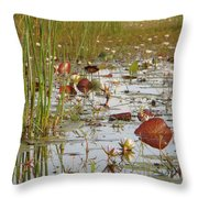 Among The Waterlillies 2 Throw Pillow