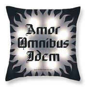 Amor Omnibus Idem Throw Pillow