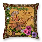 Amore - Musician Version Throw Pillow by Bedros Awak